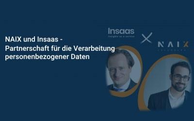 NAIX und Insaas schließen Partnerschaft für die Verarbeitung personenbezogener Daten